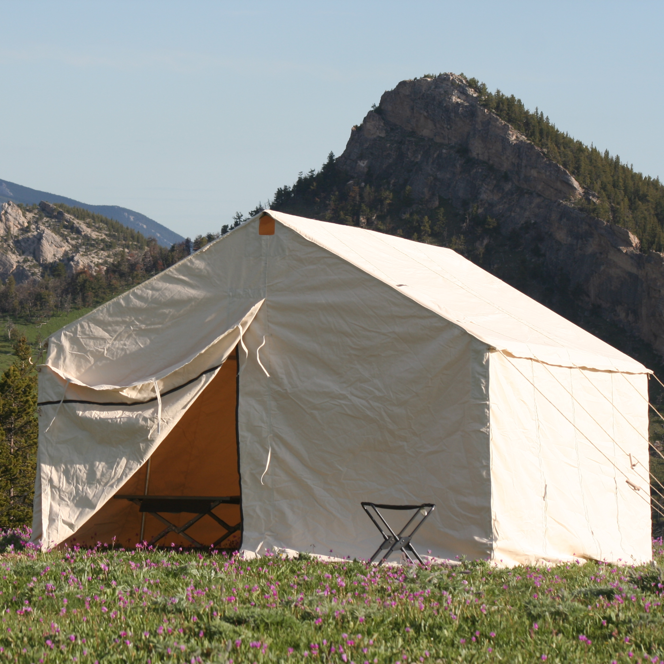 Canvas wall tent made by Sheridan Tent amp; Awning – Sheridan, Wyoming